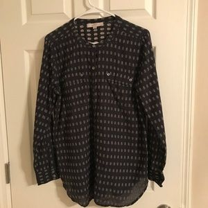 Ann Taylor Loft Long Sleeve Blouse Size Large